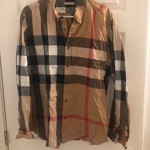 Burberry Button Down XXL (Fits like an XL)